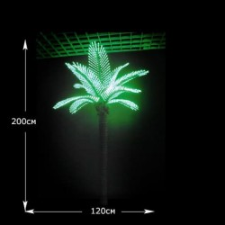 LED дерево Кокосовая пальма, высота 2 м зеленый