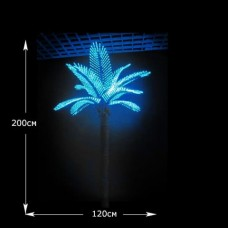 LED Дерево Кокосовая пальма, высота 2 м синий