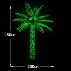 """LED Дерево """"Пальма"""" высота 4.5м зеленый"""
