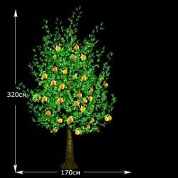 """LED-Дерево """" Манго """" высота 3.2м"""