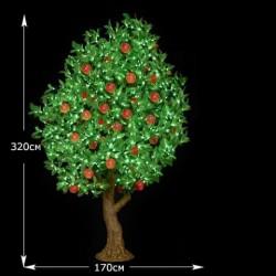 LED дерево персик, высота 320 см