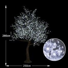 "LED-Дерево ""Сакура"" имитация белая, высота  2.8м"