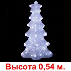 "3D-LED Фигура ""Елочка белая"", 54х20 см"