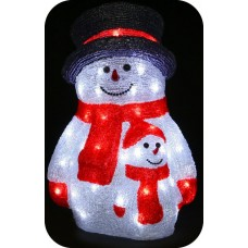 "3D-LED Фигура ""Снеговик со снеговичком"", 40см"