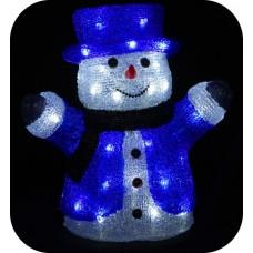 "3D-LED Фигура ""Снеговик в цилиндре"", 30см"