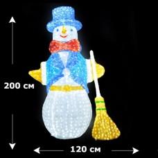 Светодиодный акриловый снеговик 200см