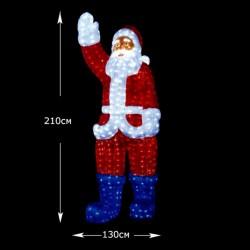 """Светящаяся 3D-LED Фигура """"Дед Мороз"""", 210 см"""
