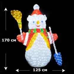 """Светящаяся фигура """"Снеговик"""", 170 см"""