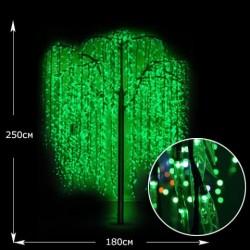 LED-Дерево Ива, высота 2.5м, цвет зеленый