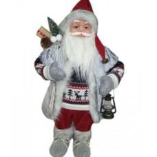 Фигура Дед Мороз высота 61 см серый, белый