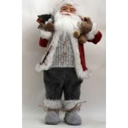 Фигура Дед Мороз высота 61 см (красный,черный,серый)