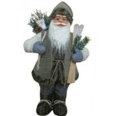 Фигура Дед Мороз высота 61 см (серый)