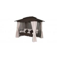Качели садовые Модена с москитной сеткой, шторами и подушками