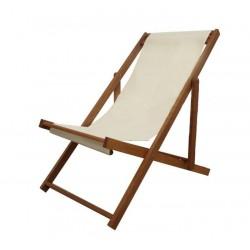Садовое кресло шезлонг Beach светлое акация