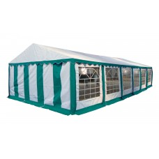 Шатер павильон 5х12 м белый, зеленый