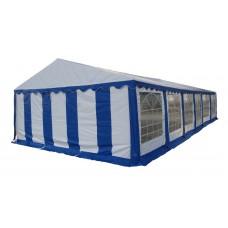 Большой шатер павильон 6х12 Белый, синий
