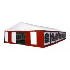 Шатер павильон 8х15 м  Белый, красный