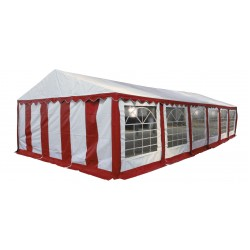 Шатер павильон 5х12  Белый, красный