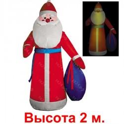 """Надувная фигура """"Дед Мороз в красной шубе"""", 2м"""