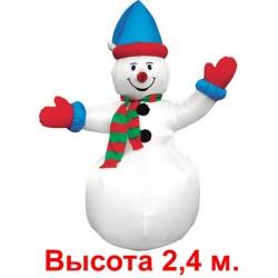 """Надувная фигура """"Снеговик в колпачке, большой"""", 2.4 м"""