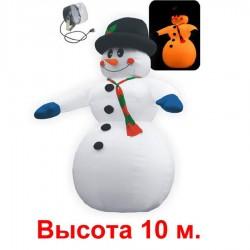Надувная фигура «Снеговик в шляпе», 10 м