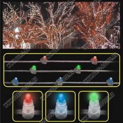 LED-CLIP LIGHT 100м, шаг 15см, 666 мерцающих RGB светодиодов (без колпачков)
