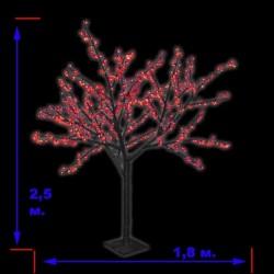 LED-«Японская ива» пушистая, высота 2,5 м