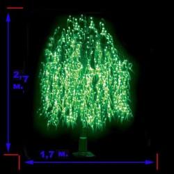 """LED-""""Ива плакучая"""" с контроллером, высота 2 м, 1056 светодиодов"""