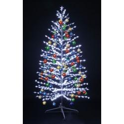 """LED-""""Ель"""", 150см, 480 светодиодов, с разноцветными шариками"""