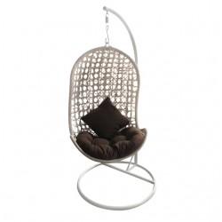 Кресло-качели подвесные (серо-коричневый)