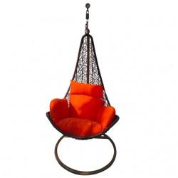 Кресло-качели подвесные (коричневые) 1