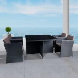 Комплект мебели из иск. ротанга T300A/Y300A-W53 Brown (4+1)