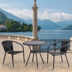 Комплект мебели из иск. ротанга T282ANS/Y137C-W53 Brown (2+1)