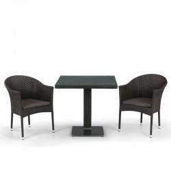 Комплект мебели из иск. ротанга T605SWT/Y350B-W53/51 Brown (2+1)