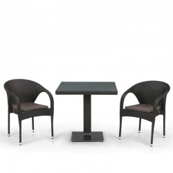 Комплект мебели из иск. ротанга T605SWT/Y290W-W53 Brown (2+1)