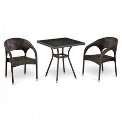 Комплект мебели из иск. ротанга T282BNT/Y90C-W51 Brown (2+1)