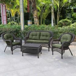 Уличный комплект для отдыха коричневый с подушками