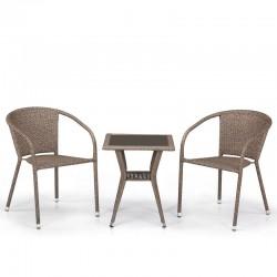 Комплект мебели из иск. ротанга T25B/Y137C-W56 Light brown (2+1)