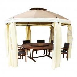Тент шатер Эстрагон 3,5х3,5 м с занавесками