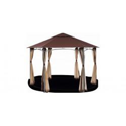 Павильон беседка Каштан 3,90х3,90 м с москитной сеткой