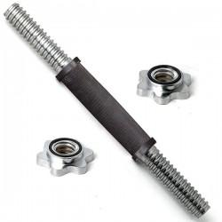 Гриф гантельный с обрезиненной ручкой DFC RB14TR d-31 длина 35 см