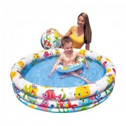 """Надувной бассейн для детей Intex 59469NP """"Fishbowl Pool Set"""" 3+"""