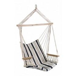 Кресло-гамак HIP бело-синяя полоска