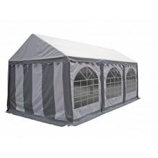 Тент шатер ПВХ 4x6 м белый с серым